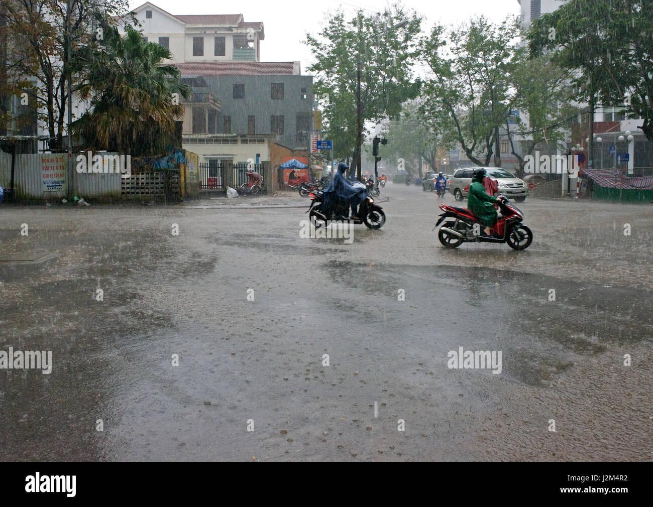 rainstorm Hue Vietnam - Stock Image