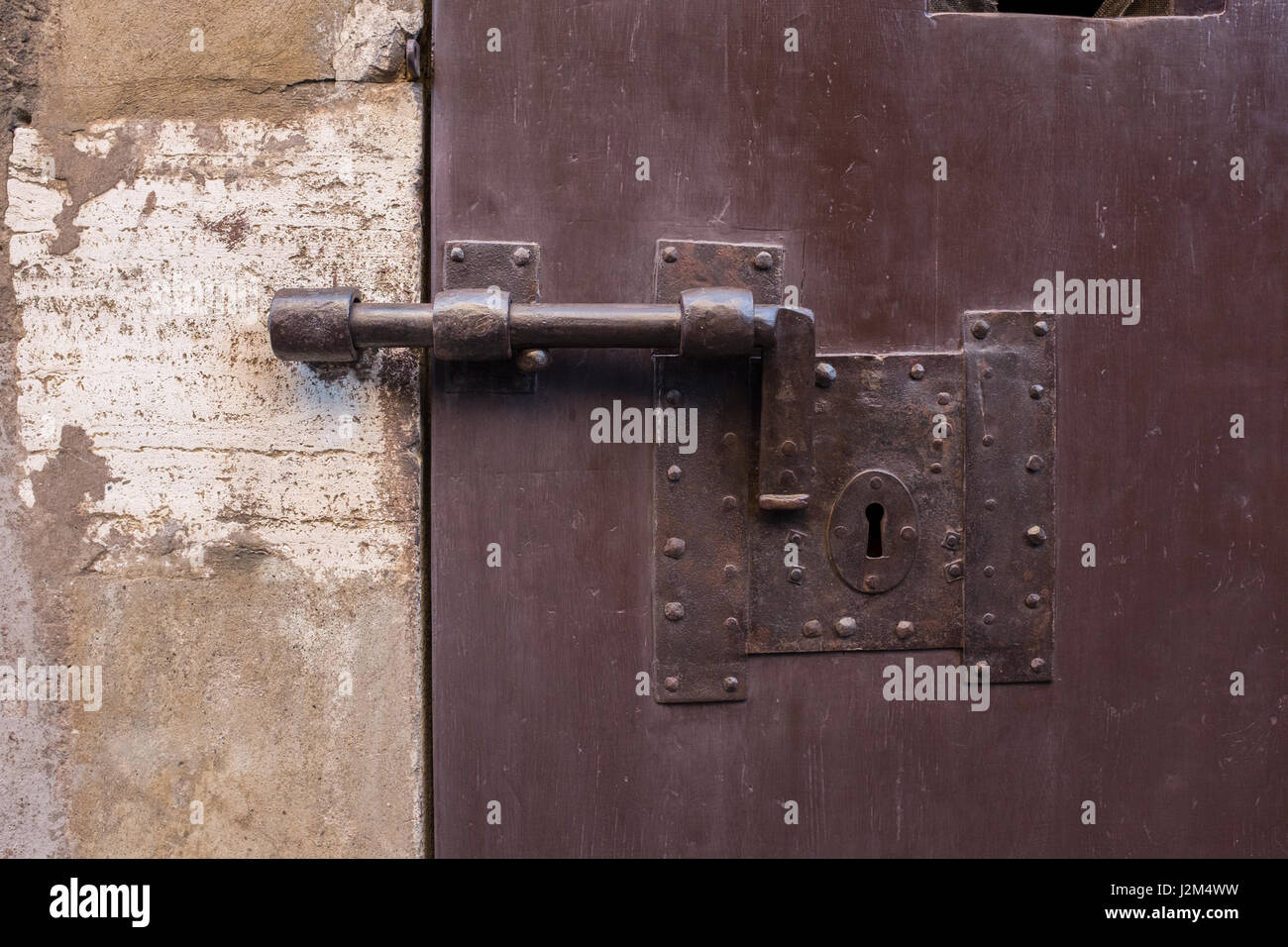 Bolted door & Bolted door Stock Photo: 139355157 - Alamy