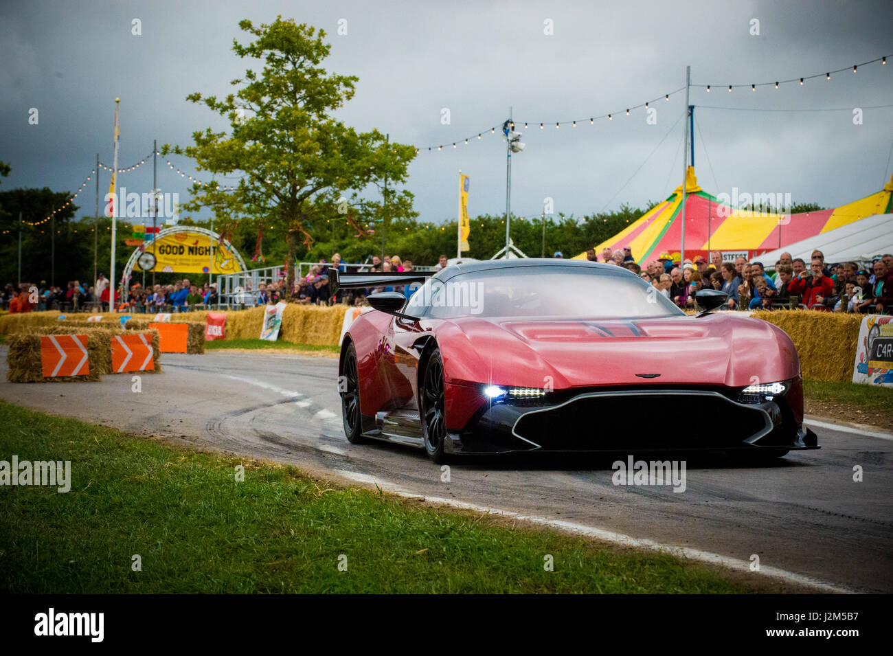 Laverstoke Park Farm, Overton, Basingstoke, Hampshire, United Kingdom. 28 August 2016. Aston Martin Vulcan on the - Stock Image