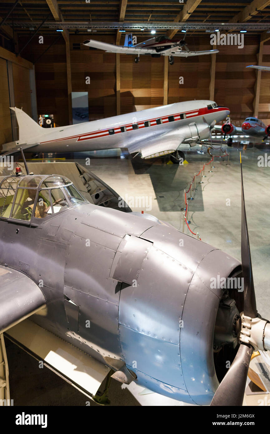 New Zealand, North Island, Auckland, MOTAT, Museum of Transportation and Technology, Aviation Hall, WW2-era US Avenger - Stock Image