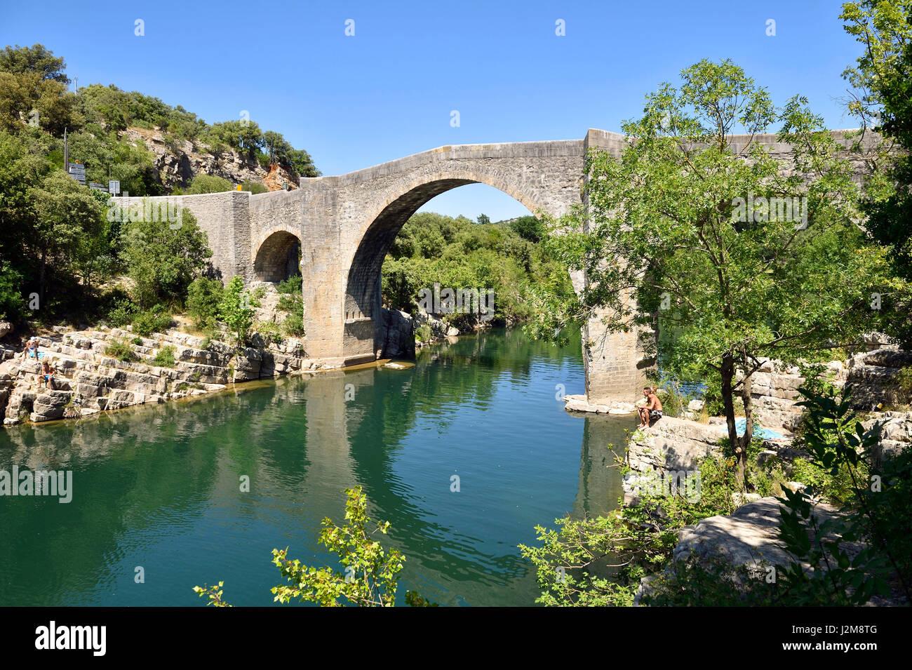 France Herault St Etienne D Issensac Bridge Crossing