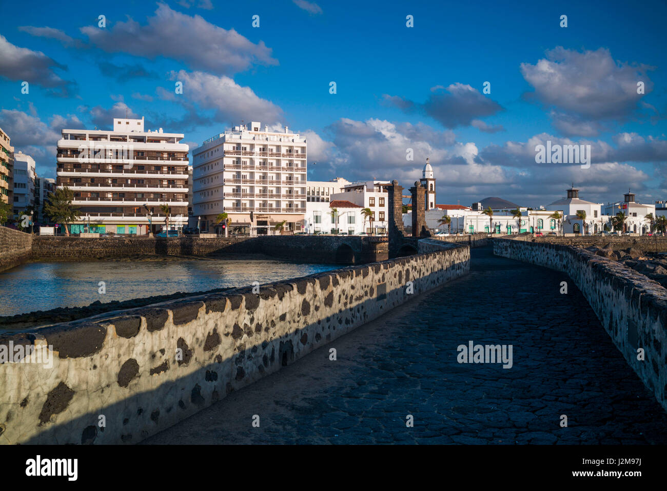 Spain, Canary Islands, Lanzarote, Arecife, Puente de Las Bolas bridge Stock Photo