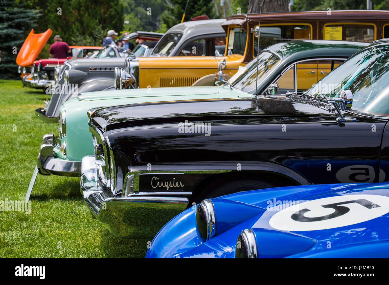 USA, Massachusetts, Beverly Farms, antique cars, car show Stock ...