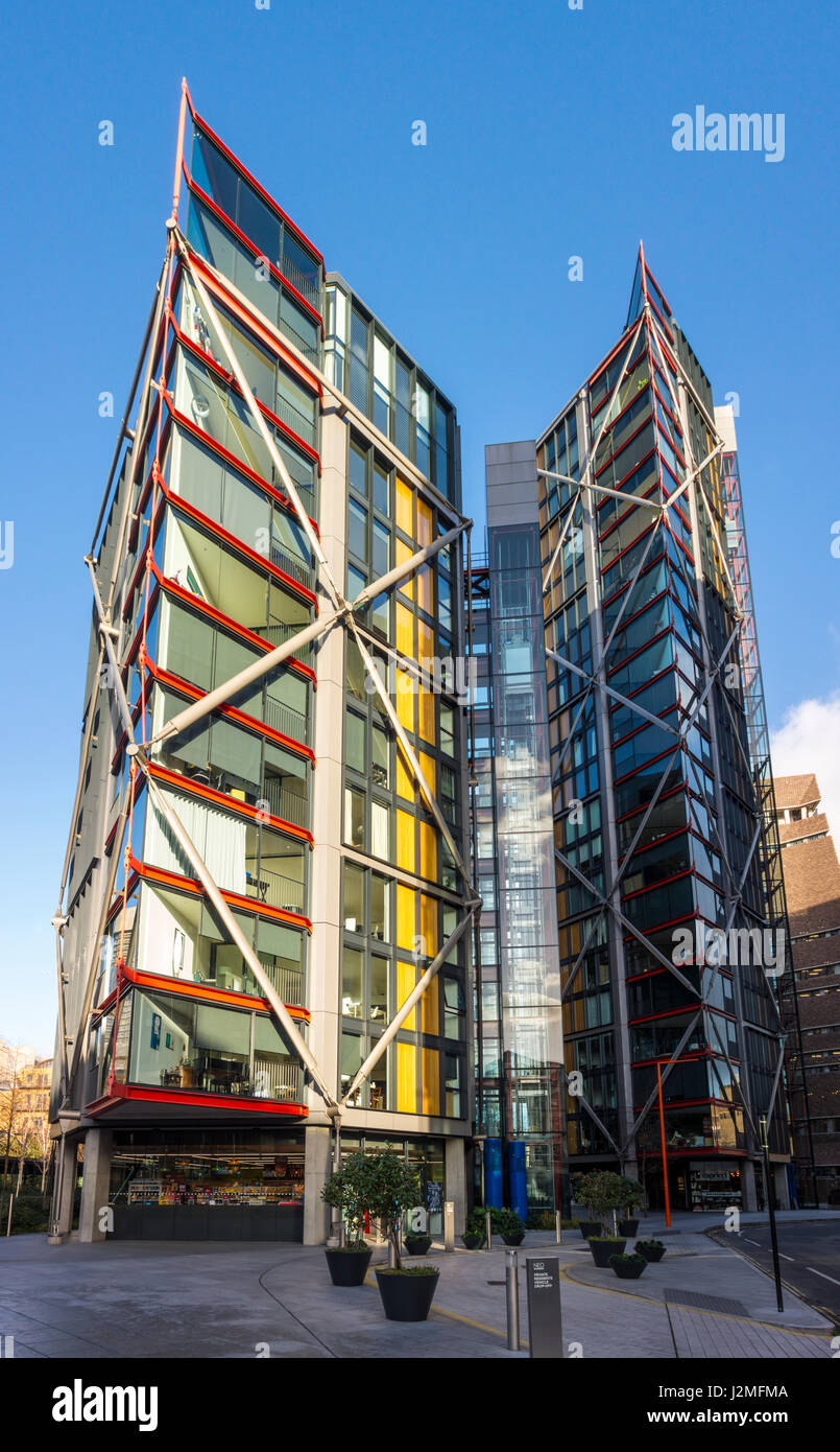 Neo Bankside by Richard Rodgers. Southwark, London, UK - Stock Image
