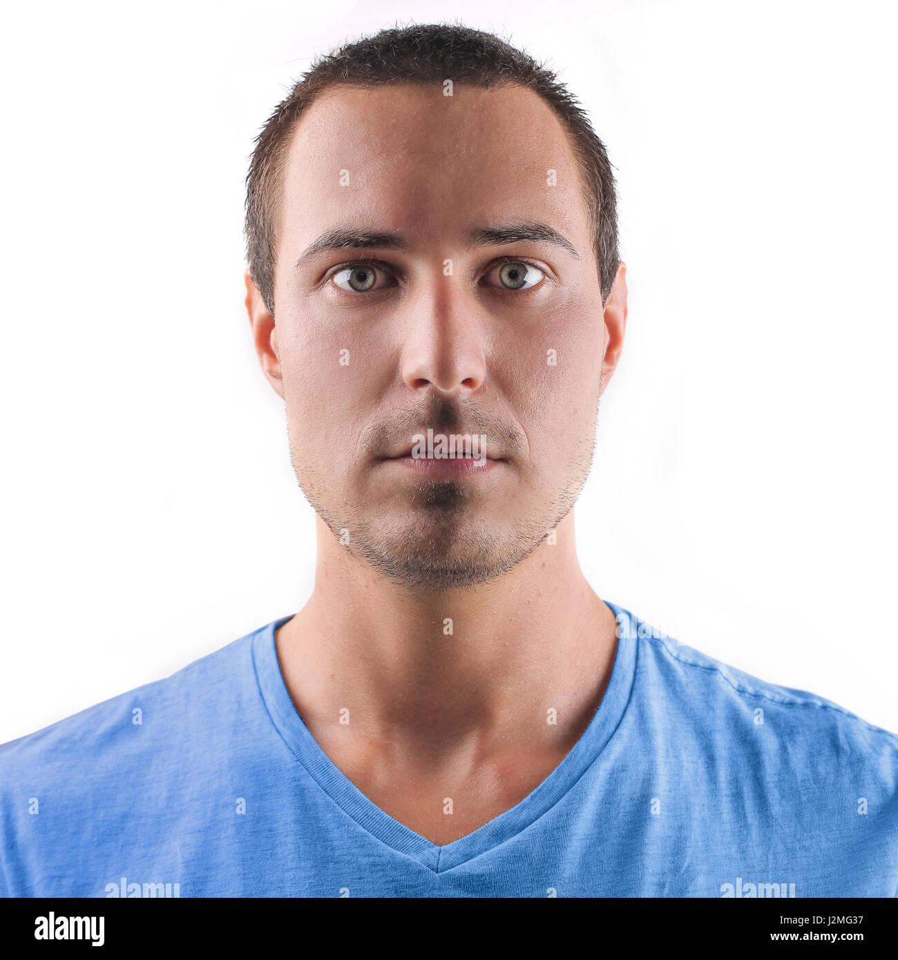Man making serious face - Stock Image
