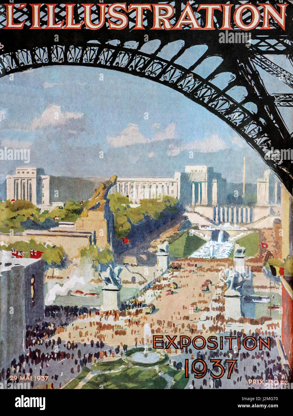 L'Illustration French magazine 29 May 1937 Paris exposition - Stock Image
