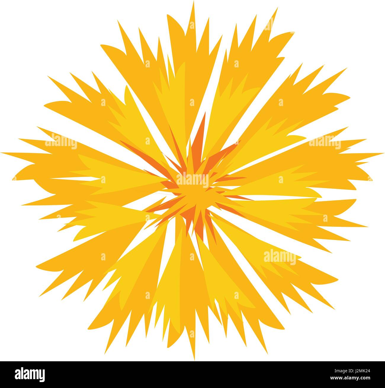 Gentle Yellow Flower Blossom in Vector - Stock Vector