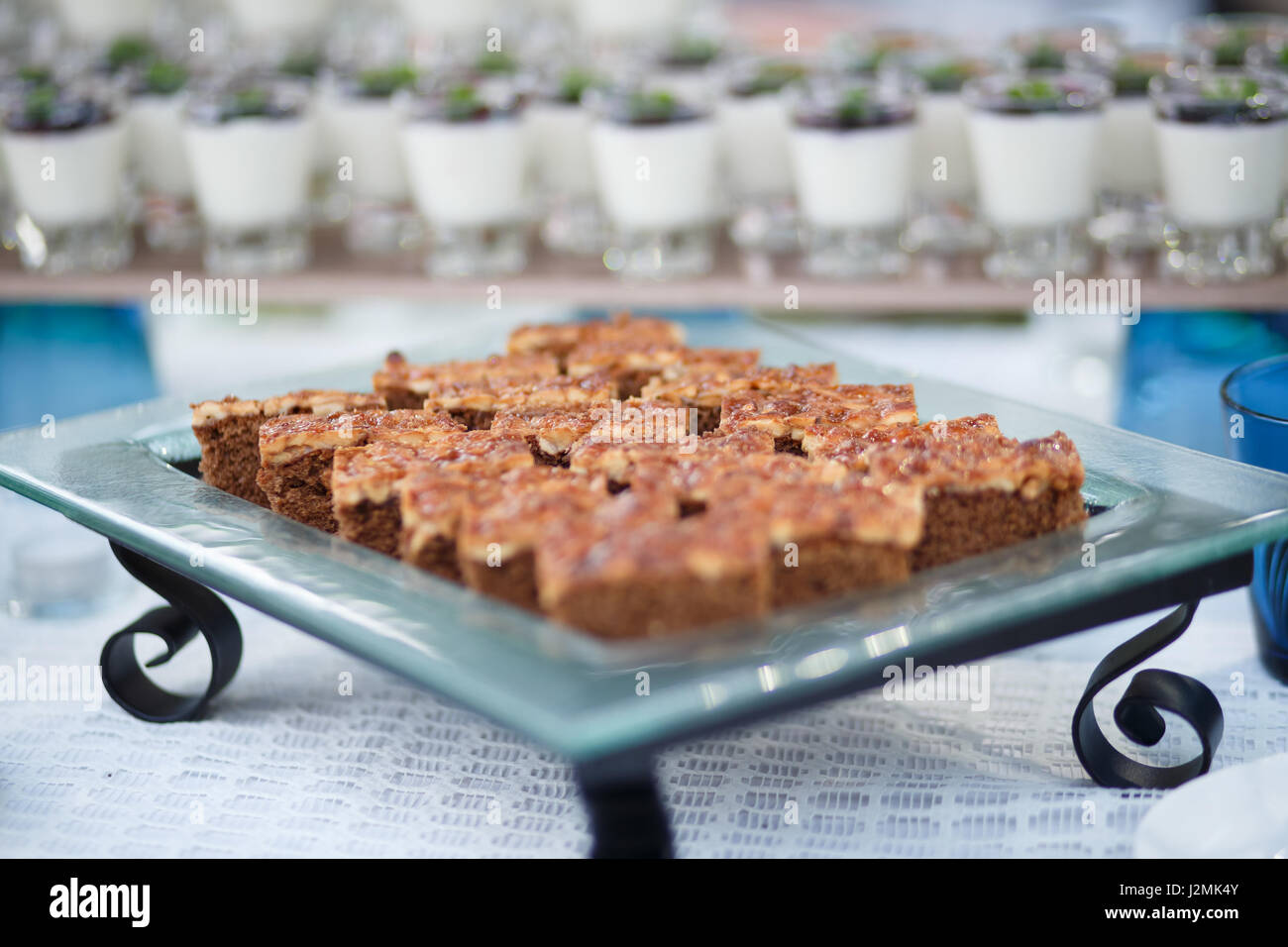 Toffee cakes for party - Stock Image