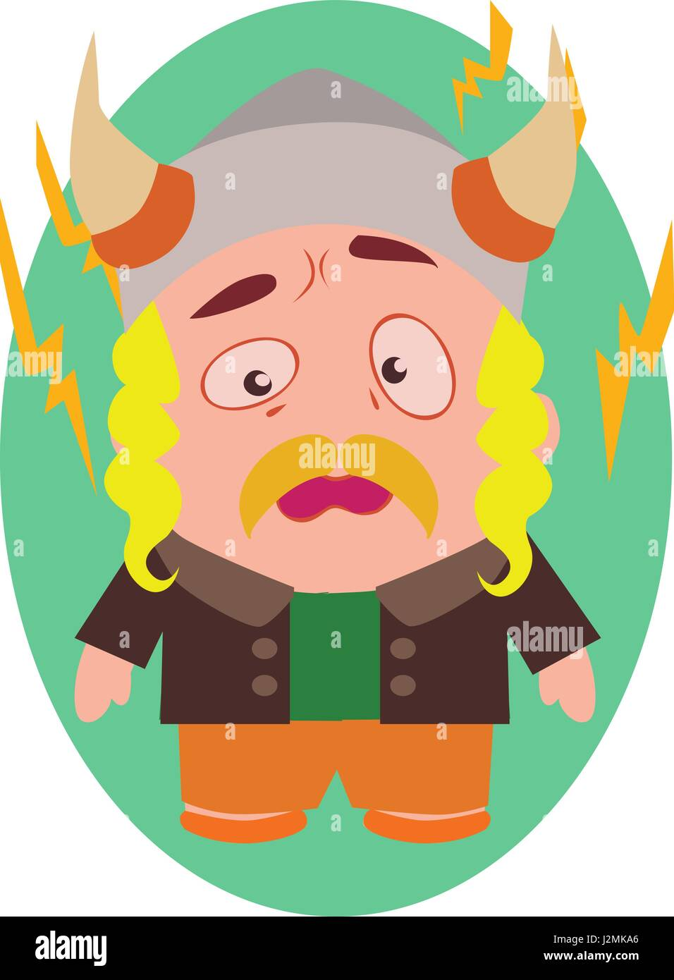 Cute Cool And Funny Viking Avatar Of Little Person Cartoon