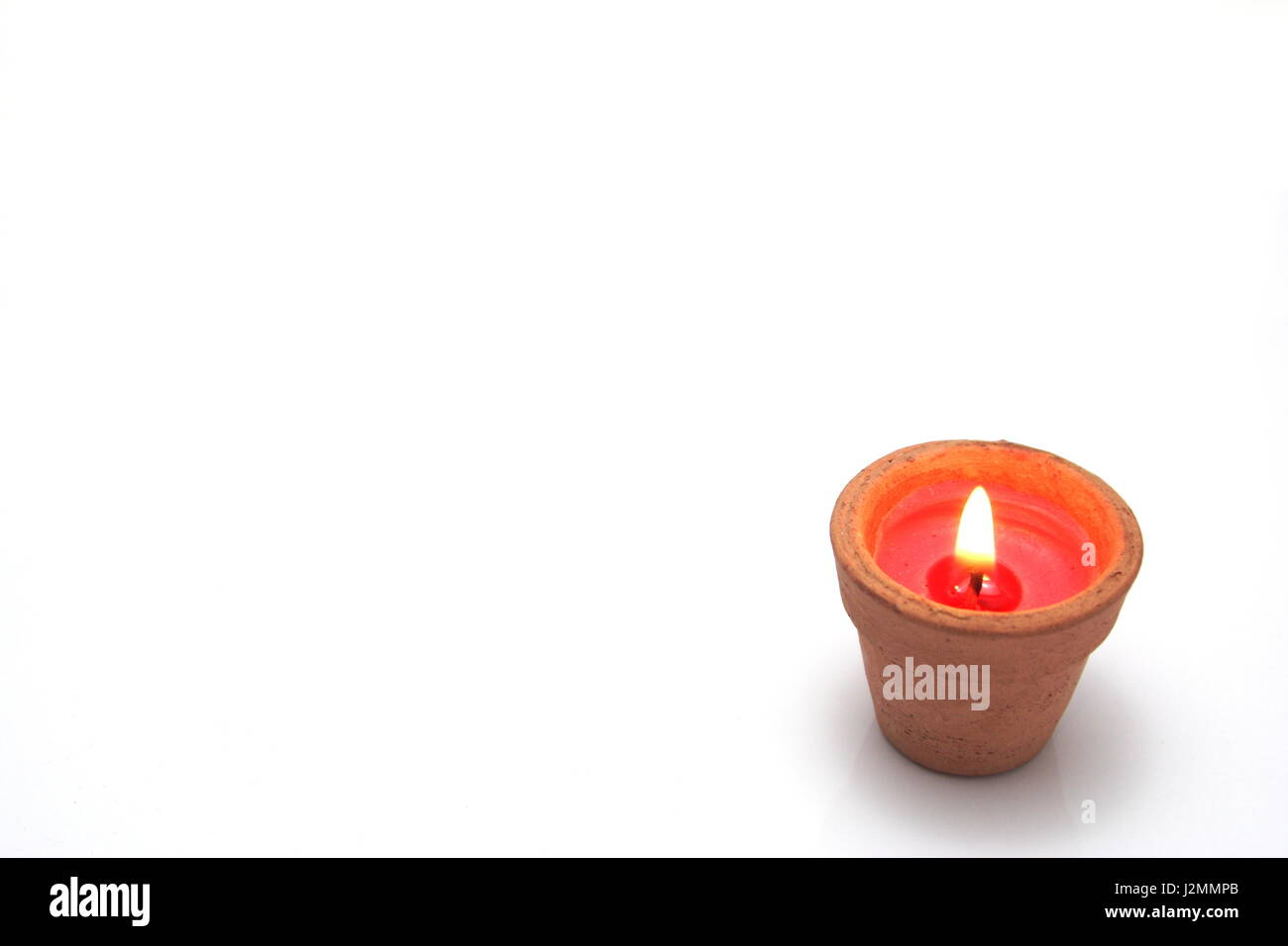 Candle Pot - Stock Image
