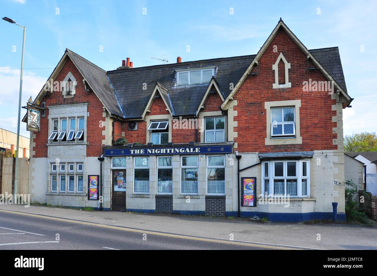 The Nightingale, (Leicester Railway inn from c1857), Nightingale Road, Hitchin, Hertfordshire, England, UK - Stock Image