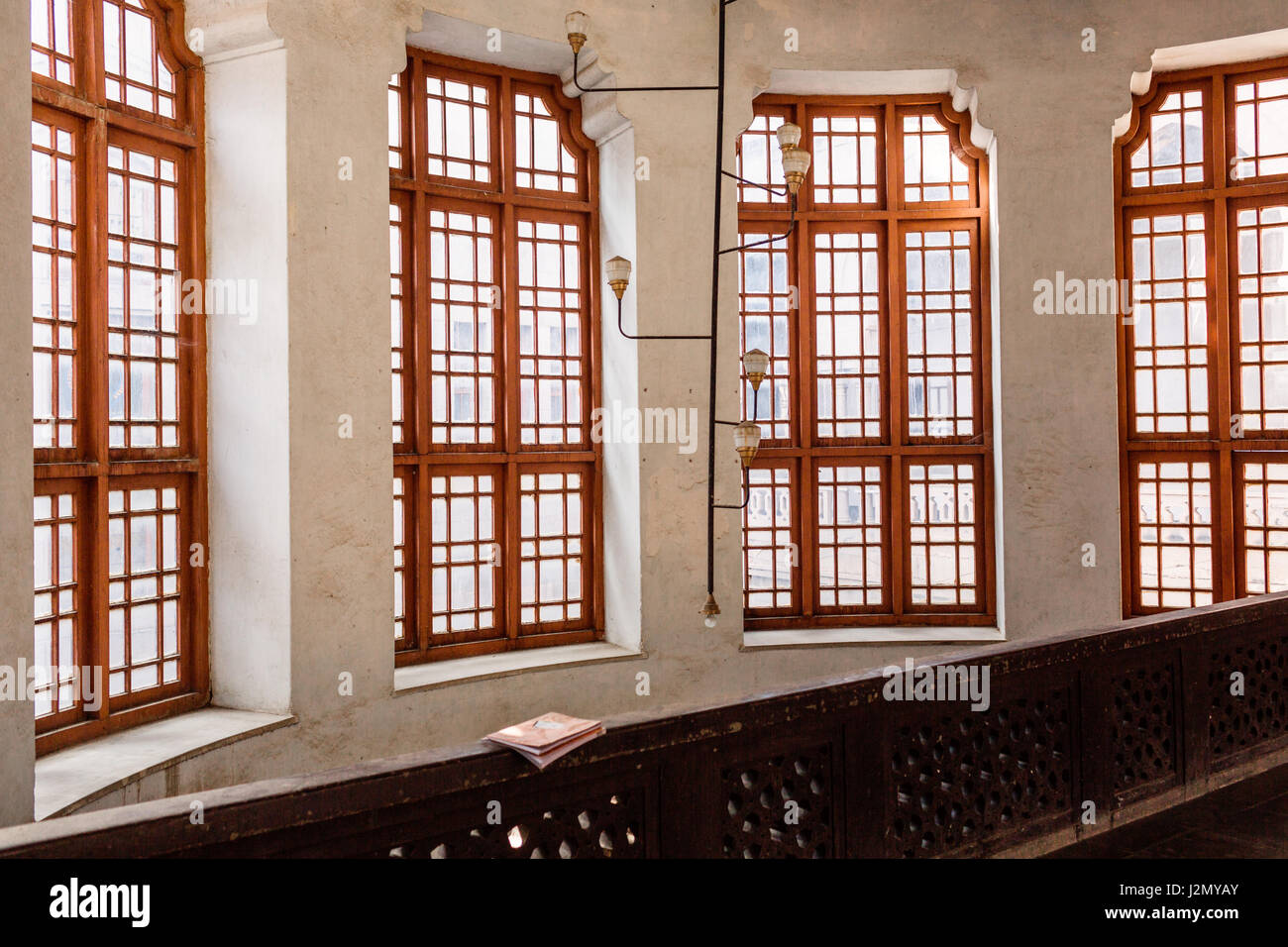 Large Bay Windows with Glass - Stock Image