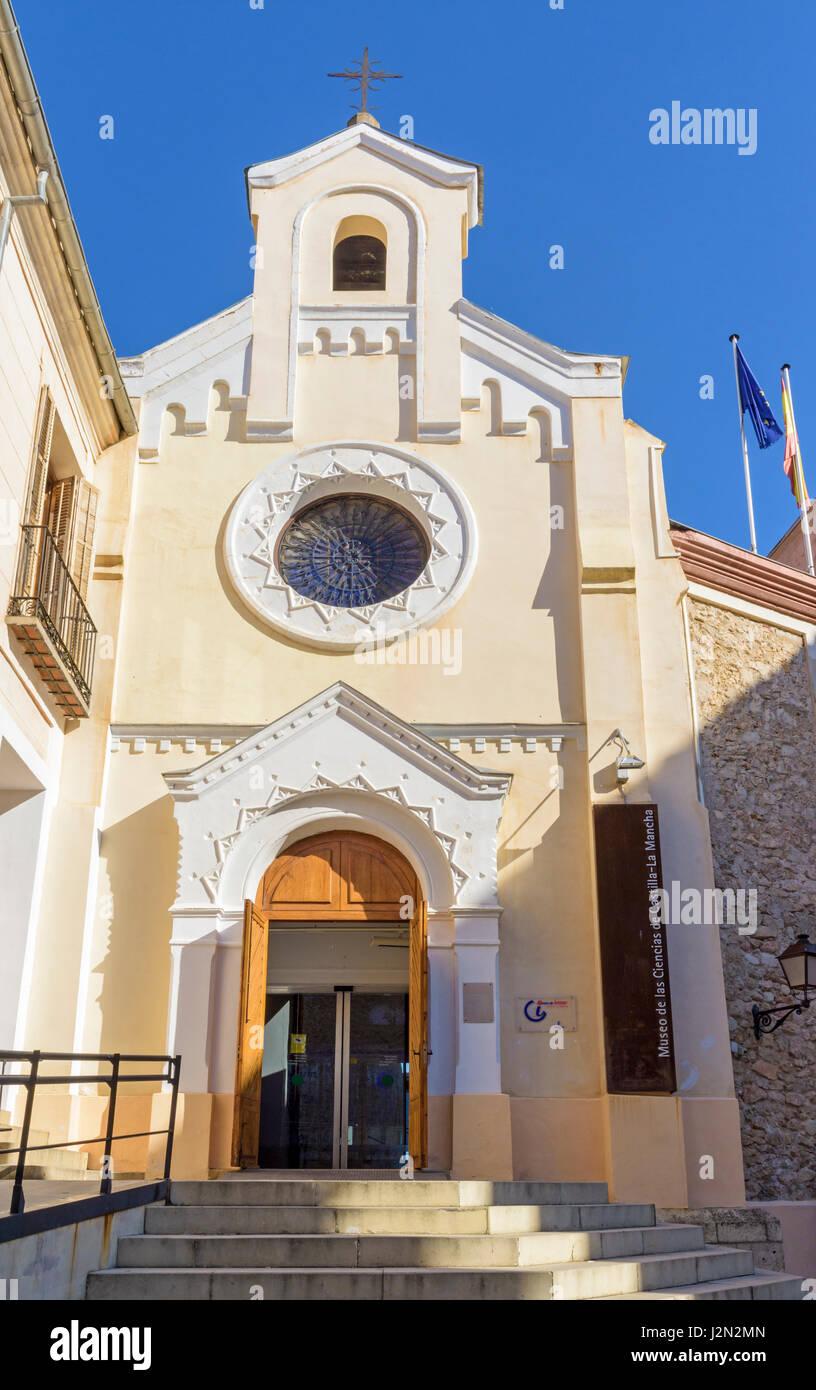 Entrance to the Museo de las Ciencias de Castilla-La Mancha, Cuenca, Castilla La Mancha, Spain - Stock Image