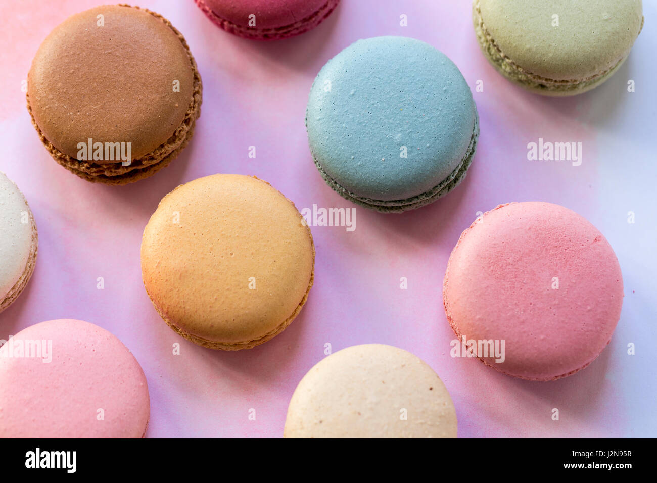 Assorted macarons - Stock Image