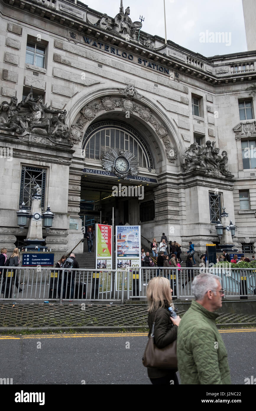 Waterloo station - Stock Image