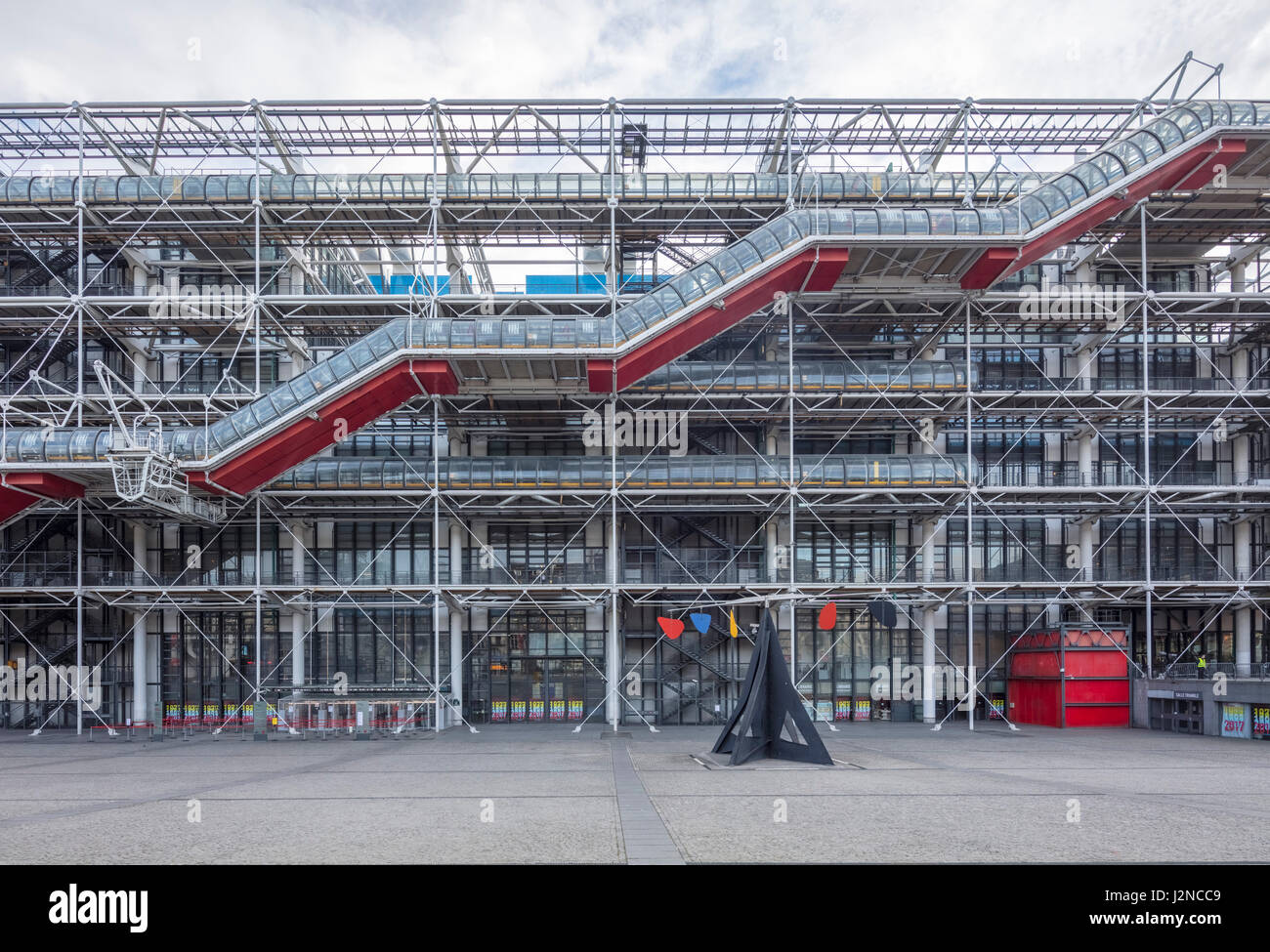 The Pompidou Center, Paris, France - Stock Image