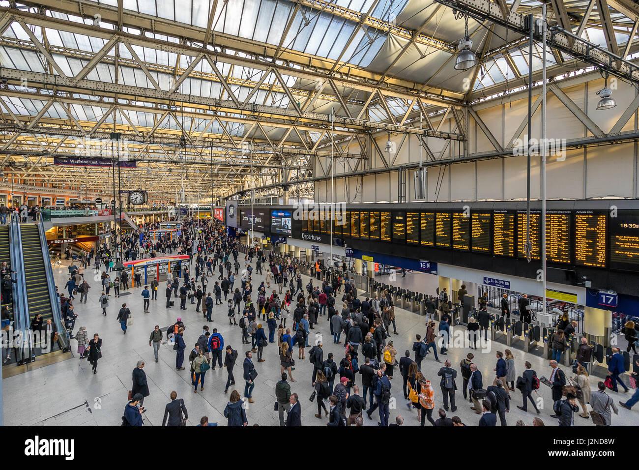 London Waterloo station - Stock Image