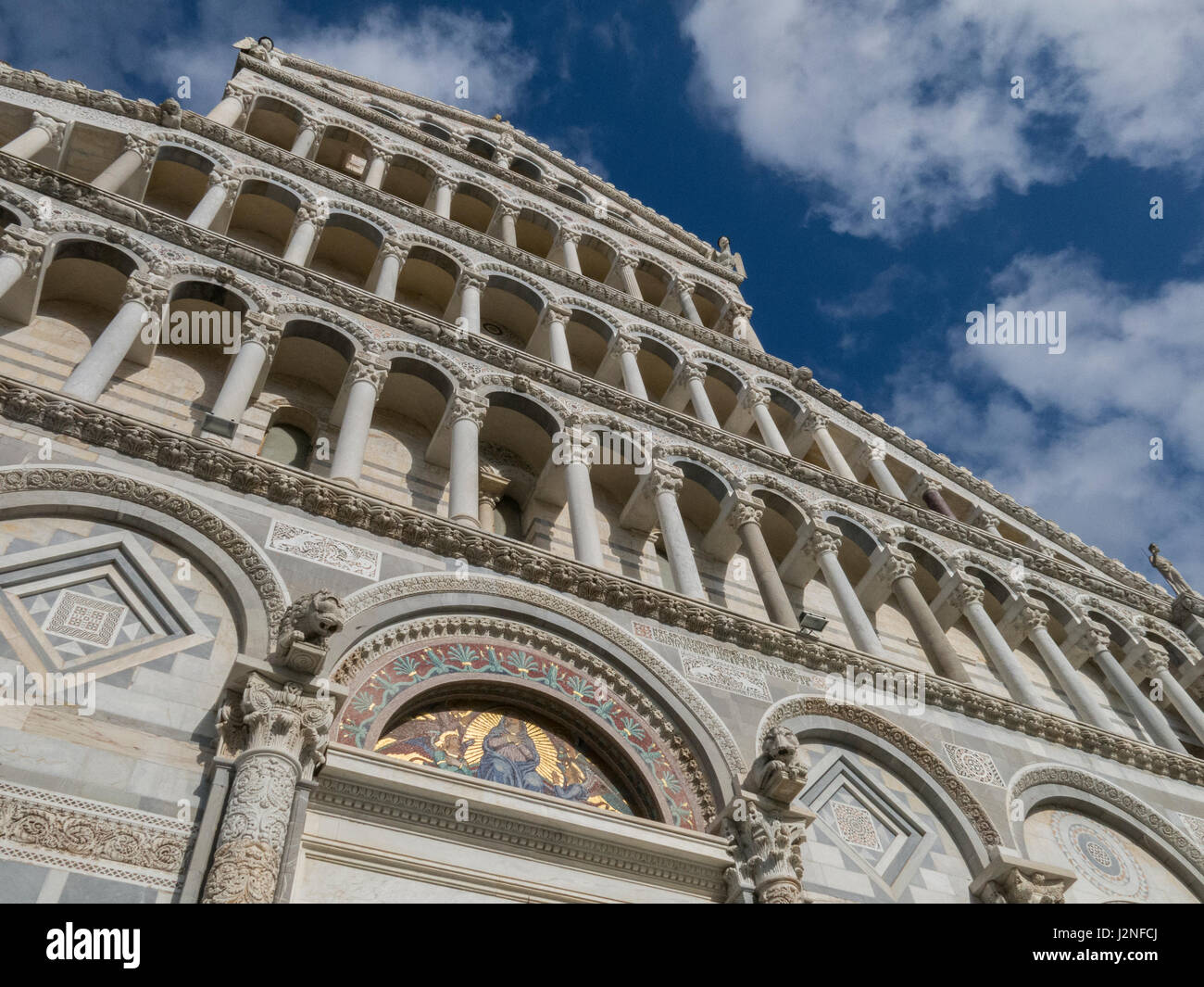 Pisa Cathedral (Duomo di Pisa) on Cathedral Square in Pisa, Piazza dei Miracoli - Tuscany, Italy. Stock Photo