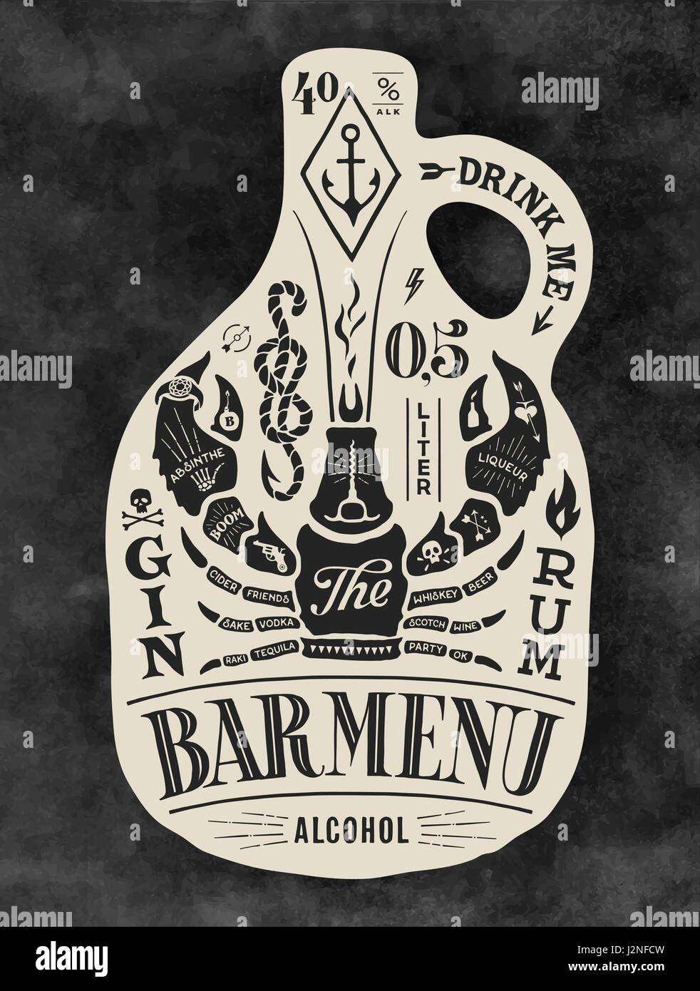 Poster Style Lettering Stock Photos & Poster Style Lettering Stock ...