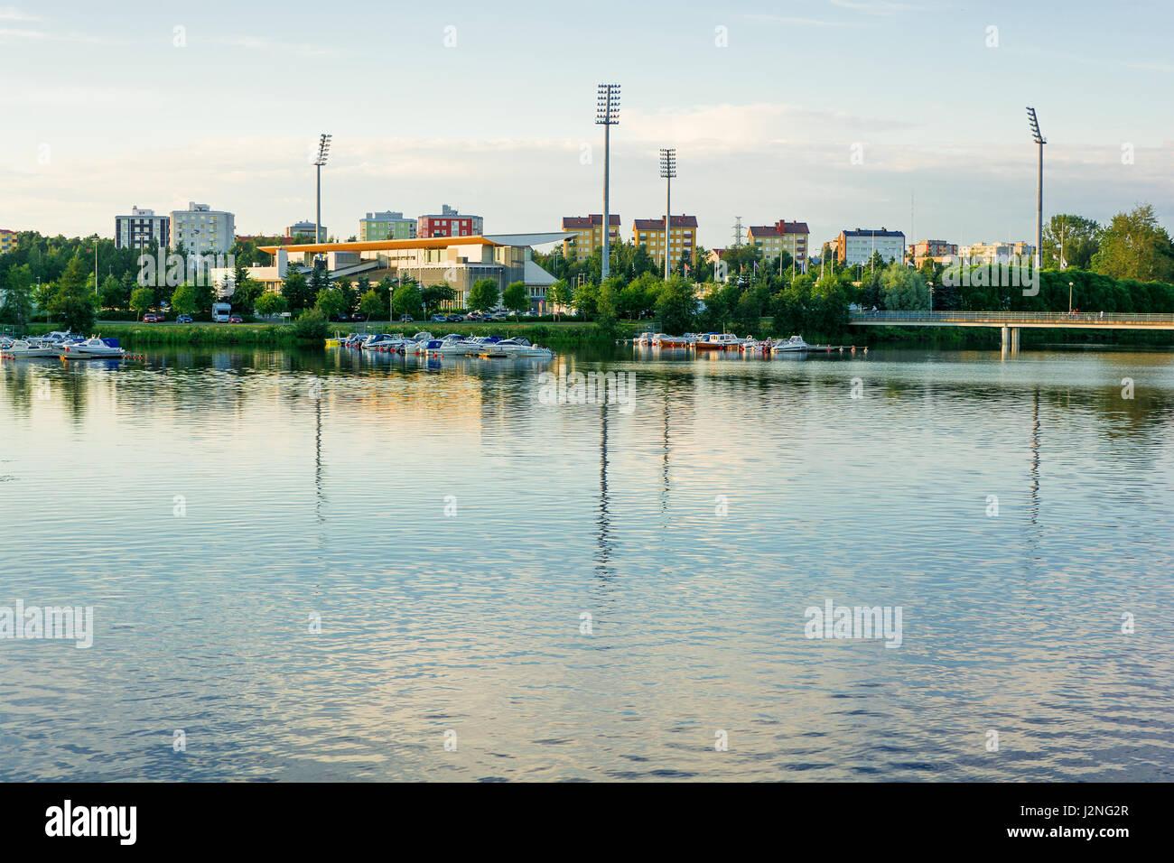 Cityscape of Oulu (Finland) - Stock Image