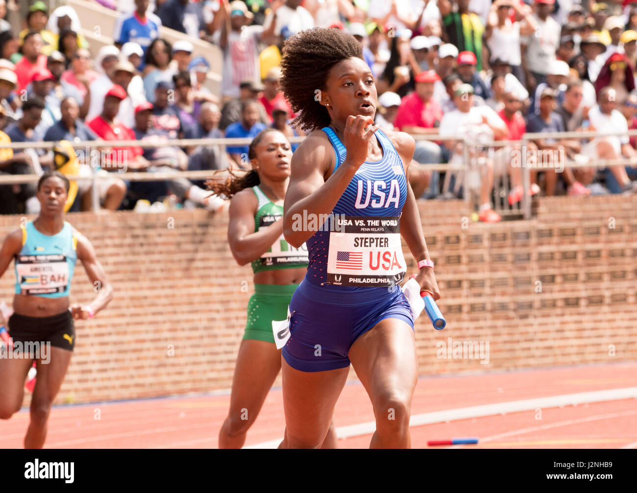 Philadelphia, Pennsylvania, USA. 29th Apr, 2017. JAIDE STEPTER, of Team USA, competing in the USA vs the World Women - Stock Image