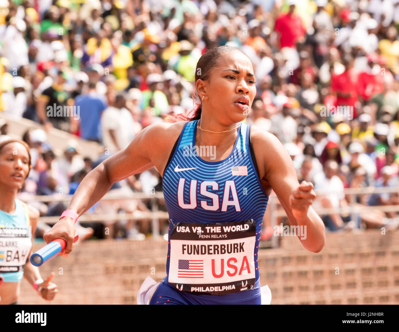 Philadelphia, Pennsylvania, USA. 29th Apr, 2017. KALA FUNDERBURK, of Team USA competing in the USA vs the World - Stock Image