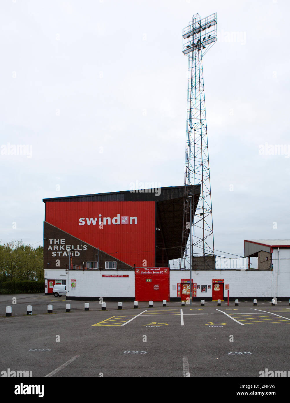 The County Ground - Home of Swindon Town Football Club, STFC have just been relegated to division two - Stock Image