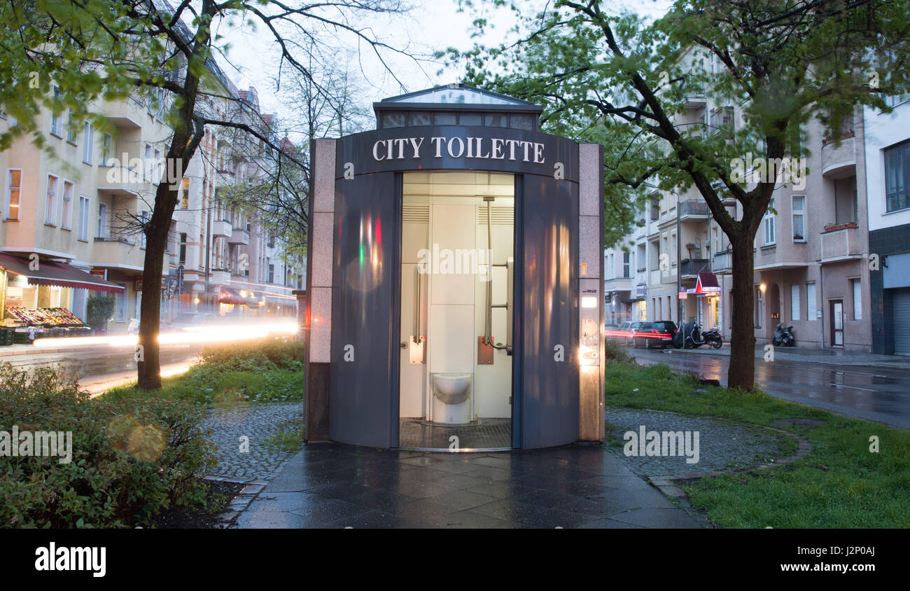 berlin germany 12th apr 2017 view of a city toilette in berlin stock photo 139395498 alamy. Black Bedroom Furniture Sets. Home Design Ideas