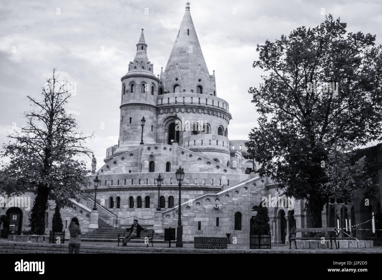 Castle Hill in Budapest, Hungary. - Stock Image