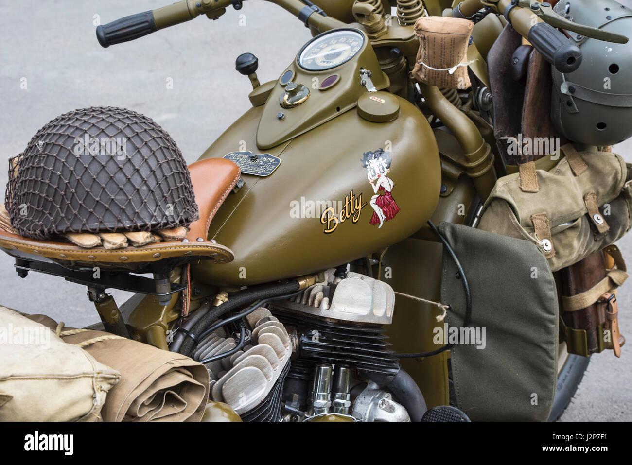 Harley Davidson Army: 1942 Vintage Harley Davidson Military Model 42WLC