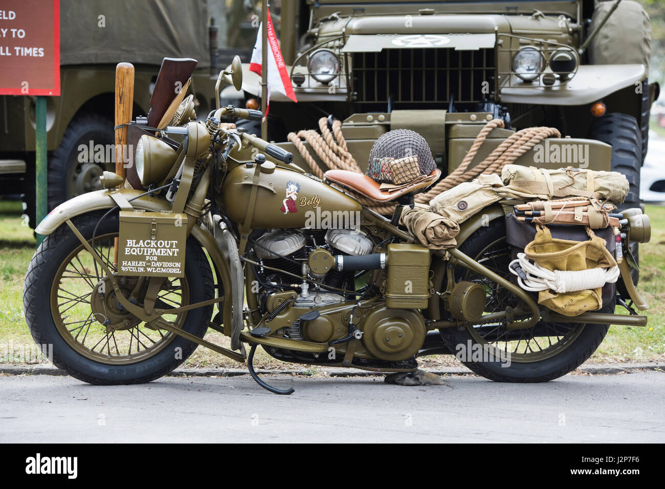 Vintage Army Motorcycle High Resolution Stock Photography And Images Alamy