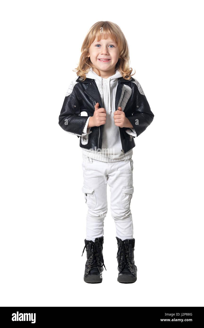 fashionable cute boy - Stock Image