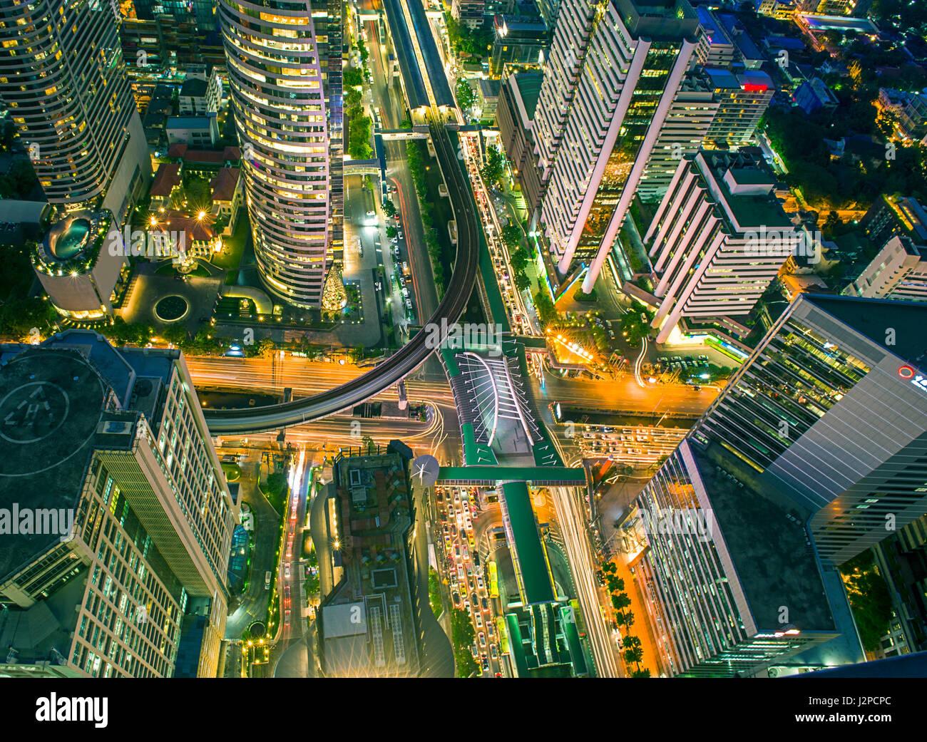 Central Business district, CBD of Bangkok on Sathorn road