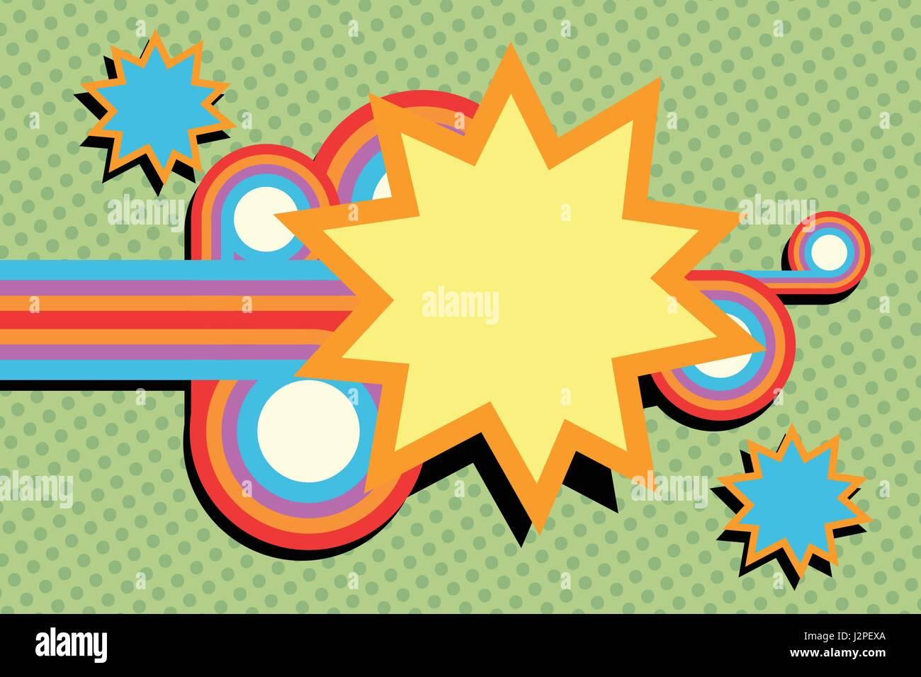 pop art swirls abstract - Stock Image