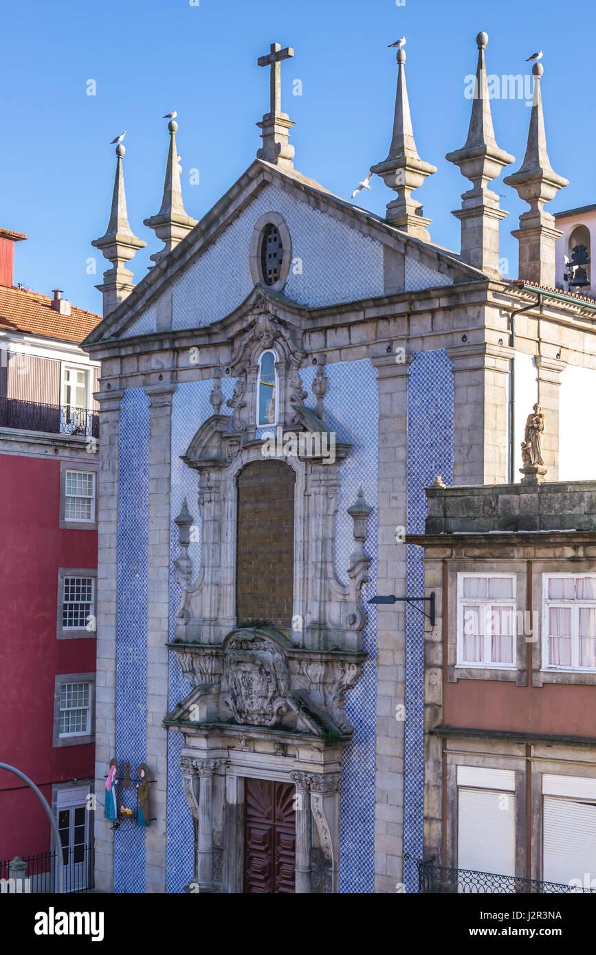 7a9980ba2cc8 Facade of Parish Church of Saint Nicholas (Igreja de Sao Nicolau) awith  Azulejo tiles facade in Porto, second largest city in Portugal