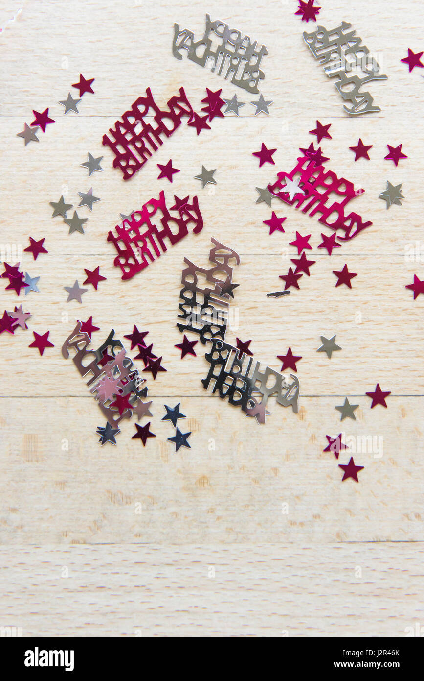 Happy Birthday Table Decorations Surface Stars Decorated Celebration Celebratory Celebrations Colourful Colorful