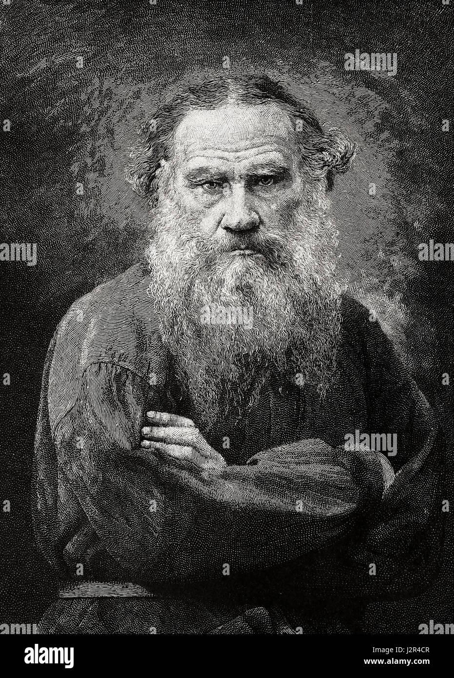 Leo Tolstoy, circa 1886 - Stock Image