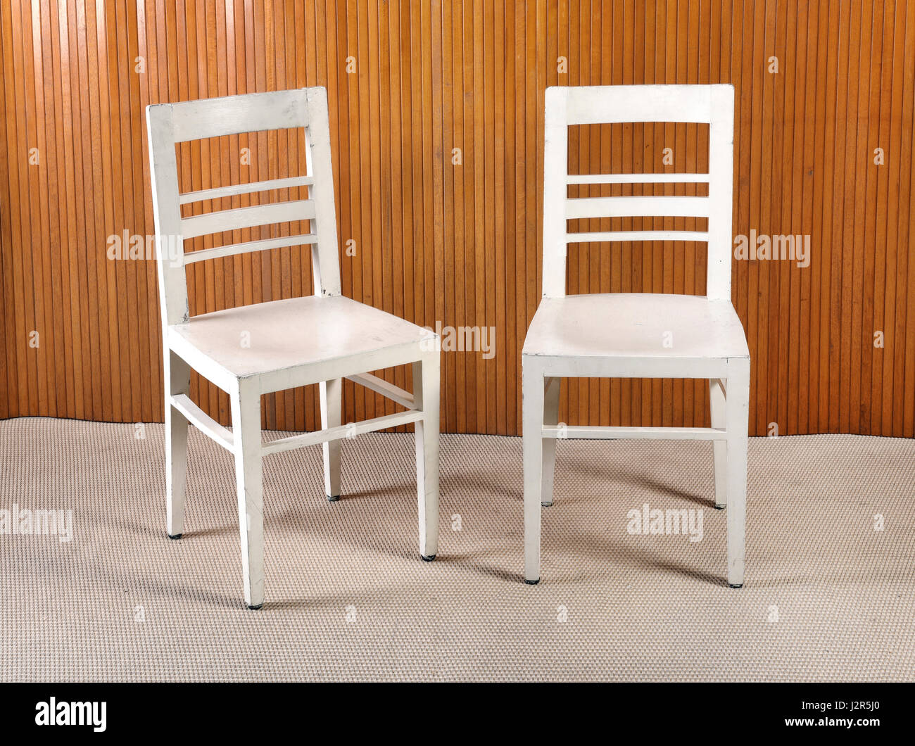Different White Wooden Chairs Stock Photos & Different White Wooden ...