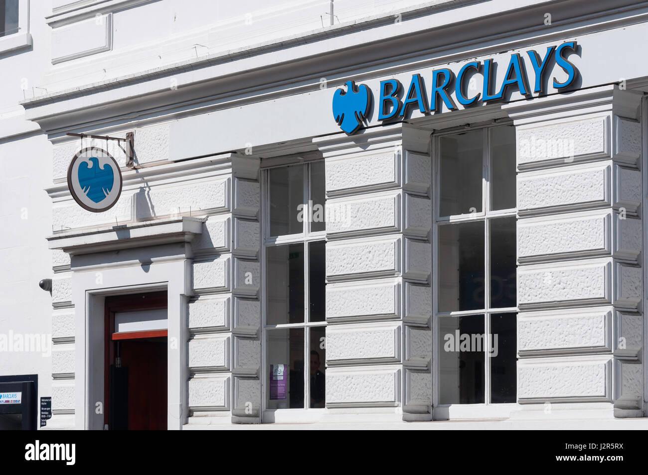 Barclays Bank, High Street, Hitchin, Hertfordshire, England, United Kingdom - Stock Image
