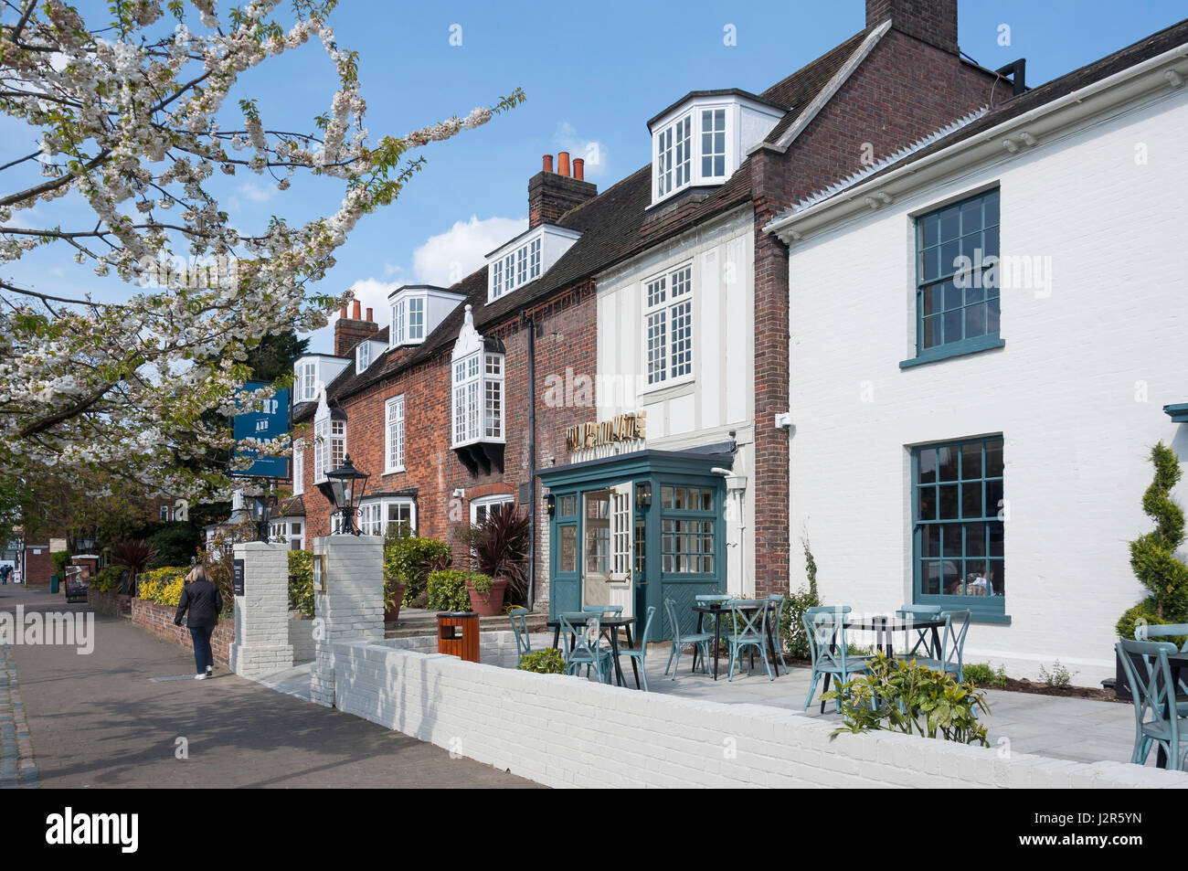 Rump and Wade Brasserie & Bar, Cromwell Hotel, High Street, Old Town, Stevenage, Hertfordshire, England, United - Stock Image