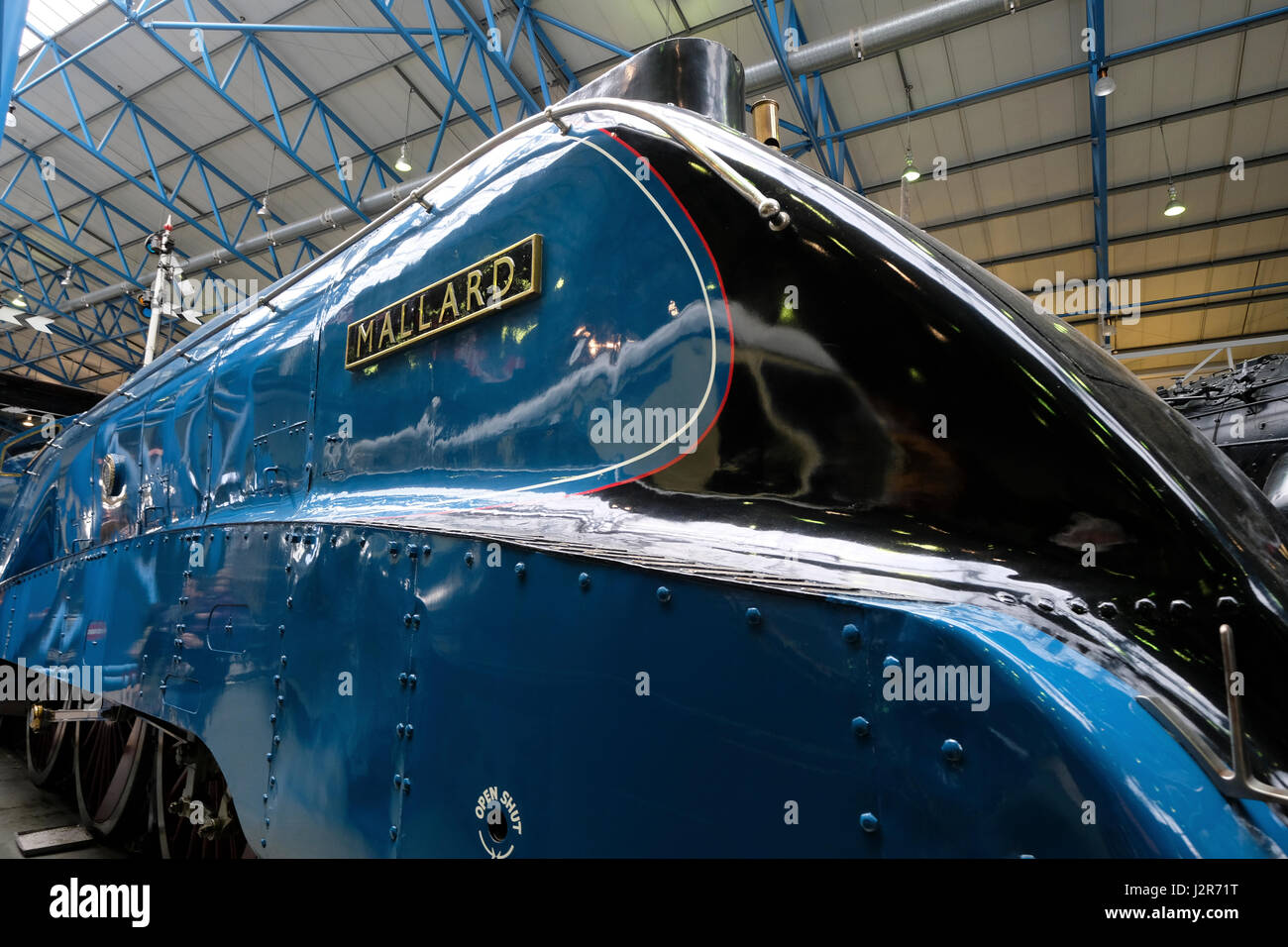 Exhibits inside The National Railway Museum in York - Stock Image