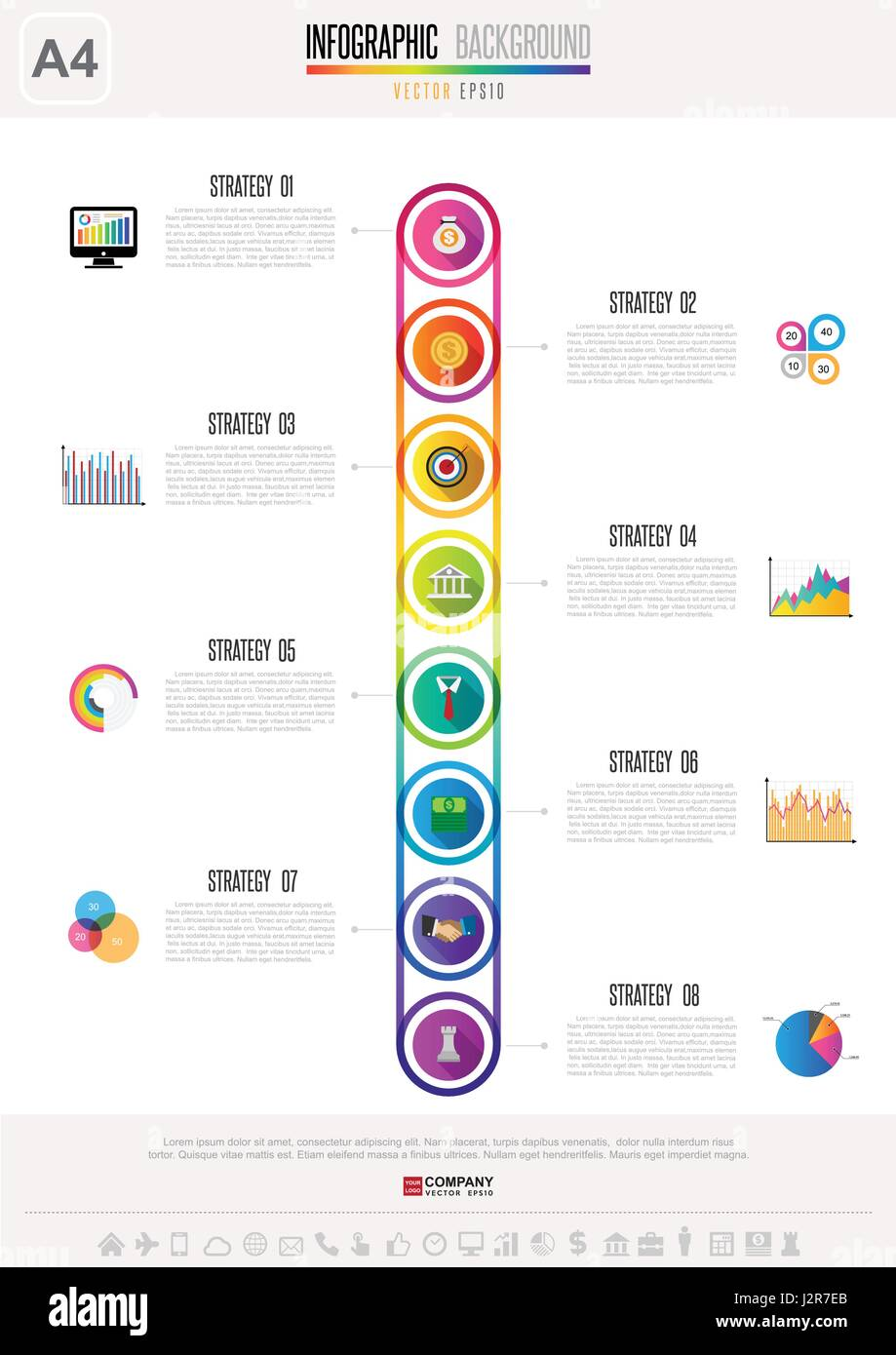 Infographic design element .Vector eps10 - Stock Image