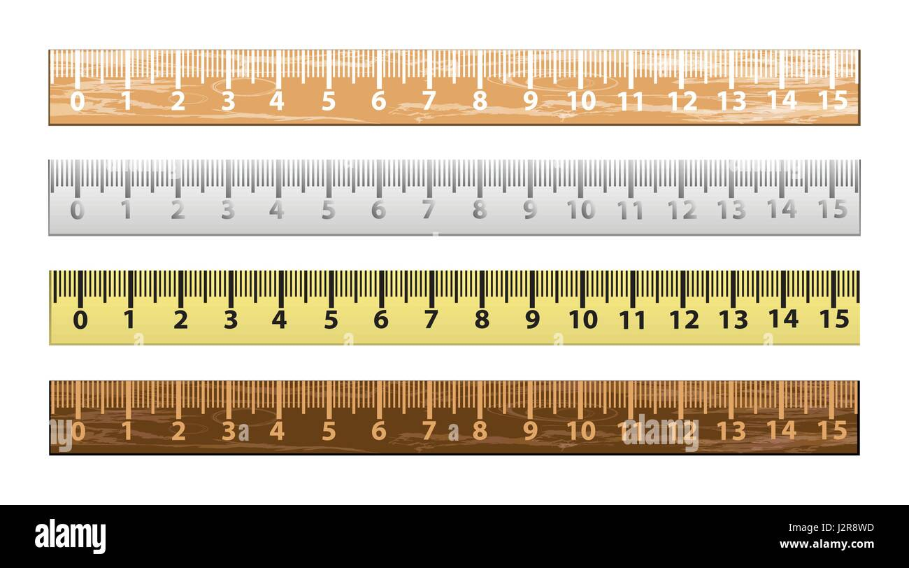 Set ruler centimeter Illustrations for your design - Stock Vector