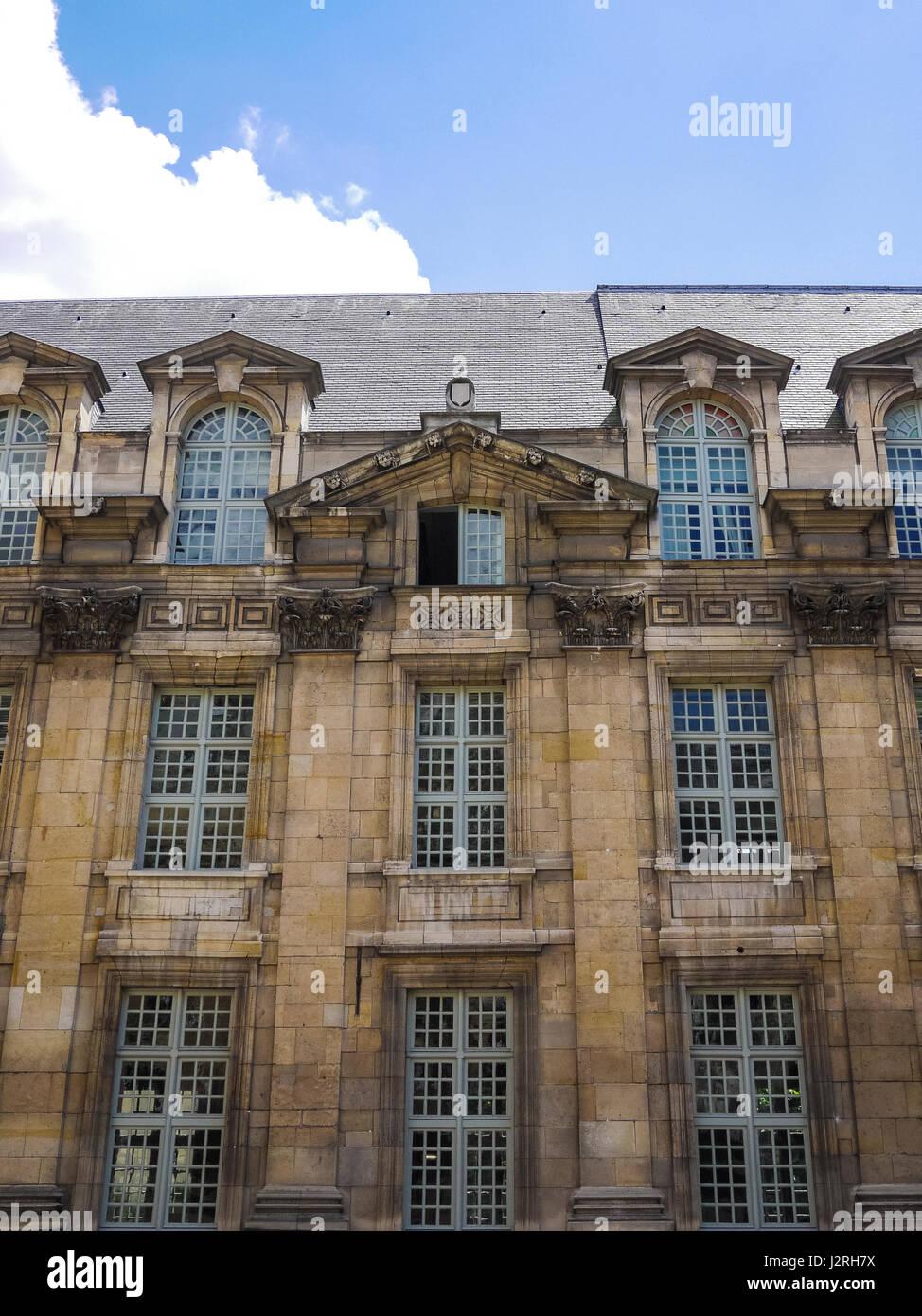 Musee Carnavalet, in the Marais neighborhood of Paris, France - Stock Image