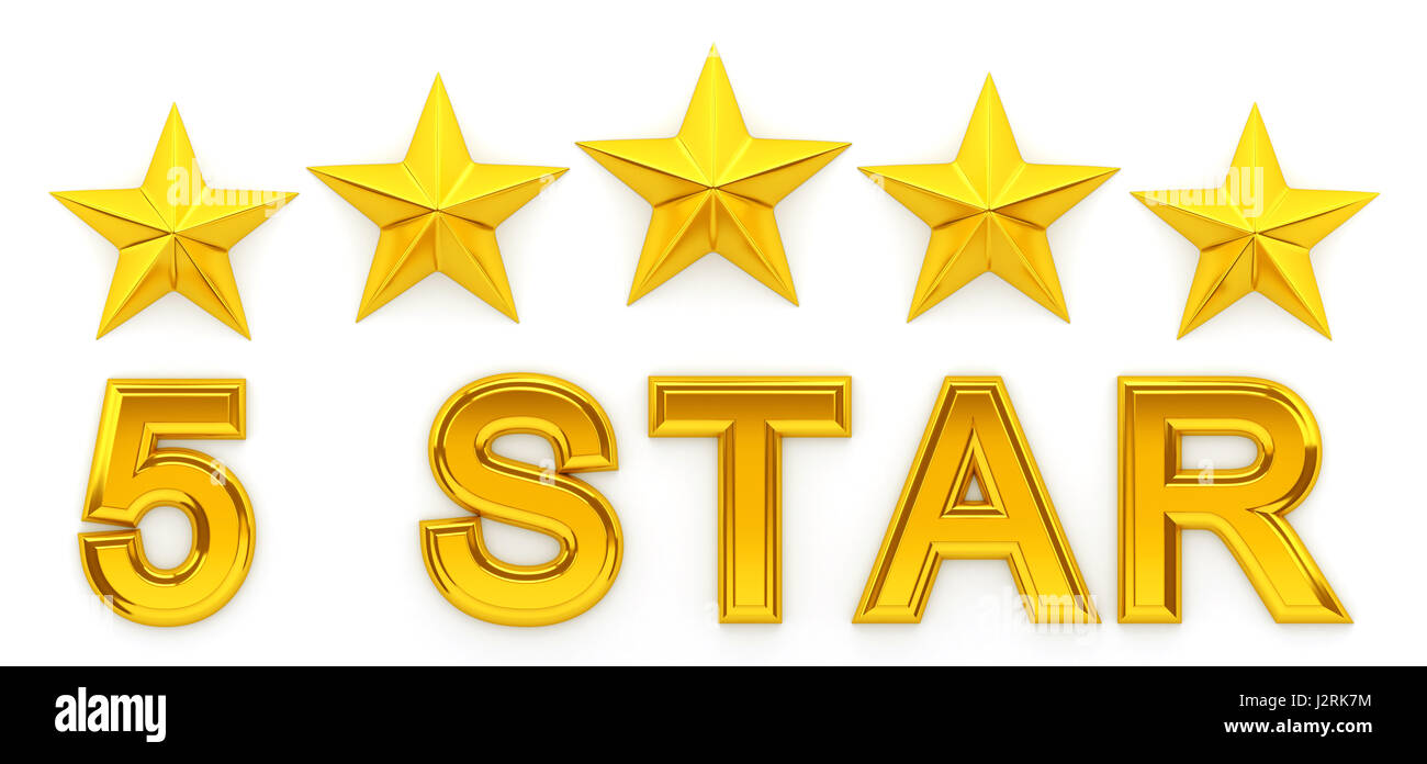 5 Star Rating Cut Out Stock Images Pictures Alamy