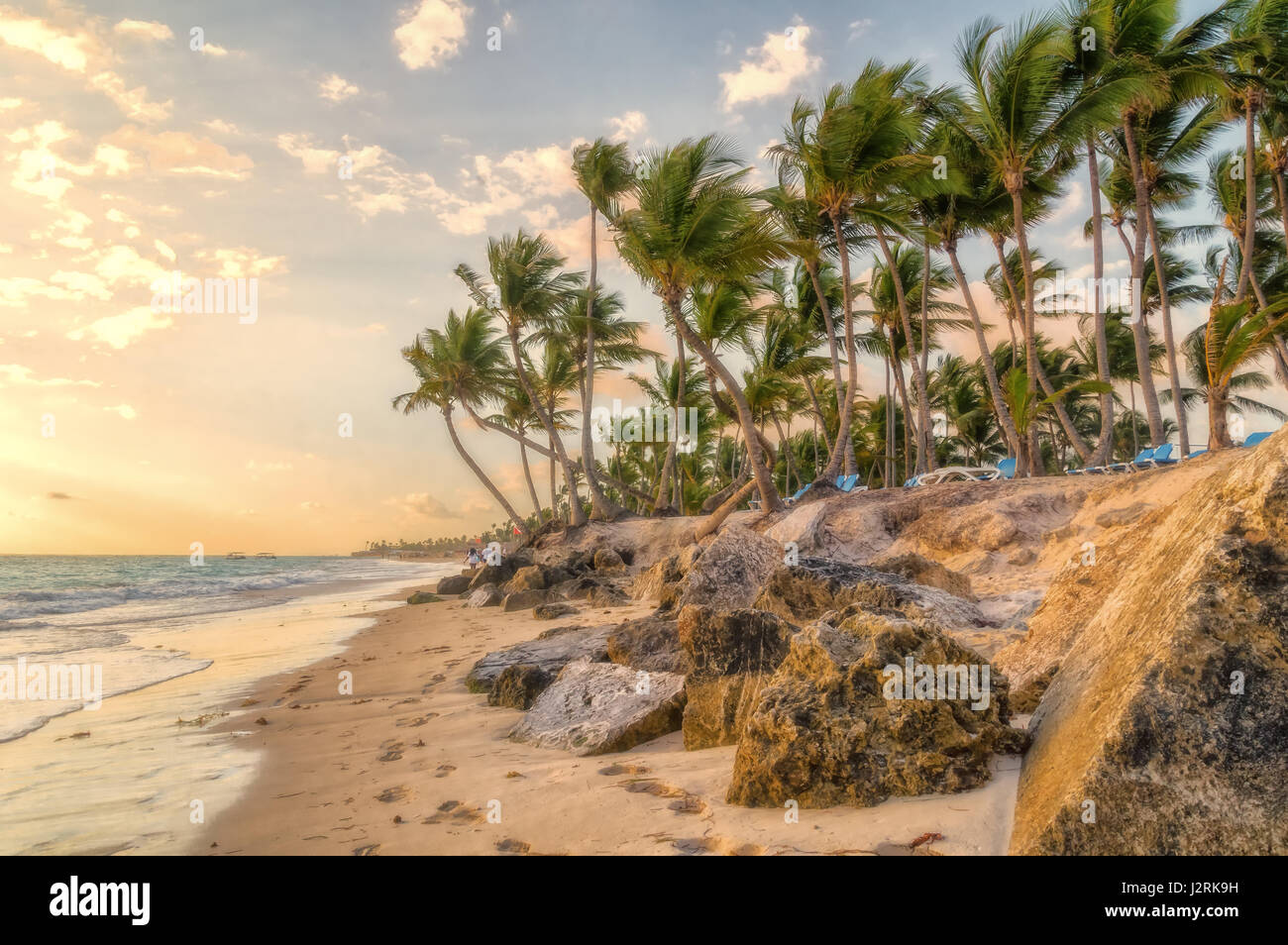 Morning in Punta Cana. Stock Photo