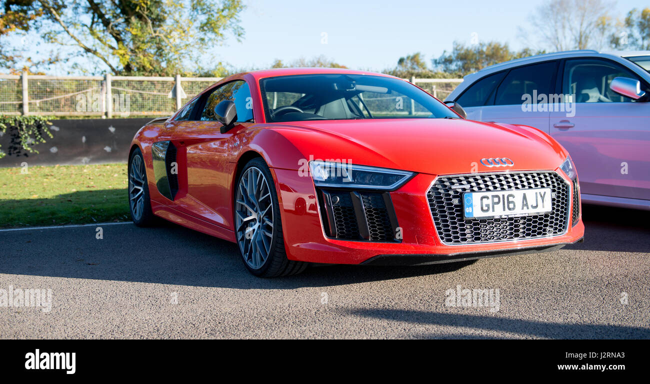 Red Audi R8 High Resolution Stock Photography And Images Alamy