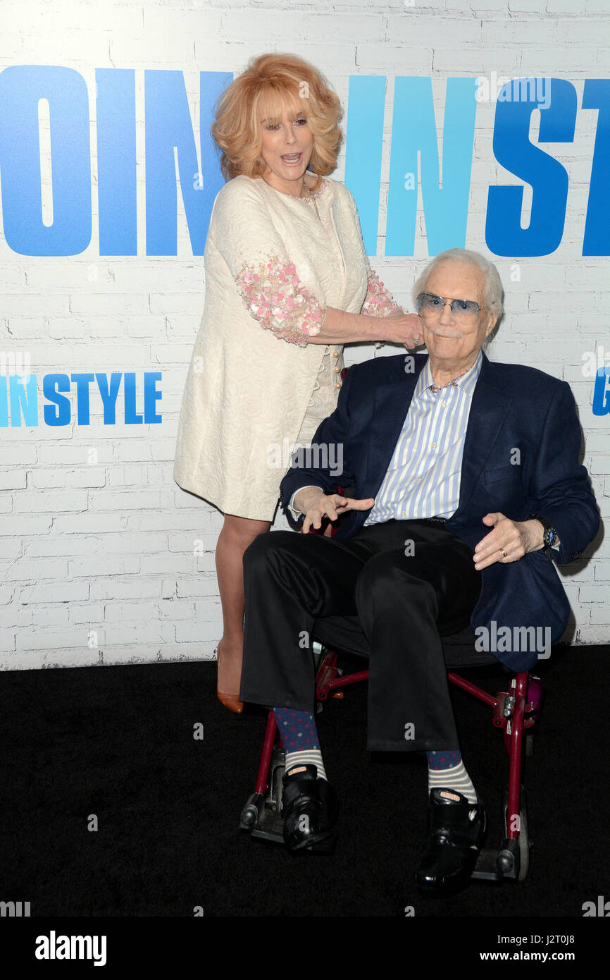 Going In Style New York Premiere at SVA Theater - Red Carpet Arrivals Featuring: Ann-Margret, Roger Smith Where: - Stock Image
