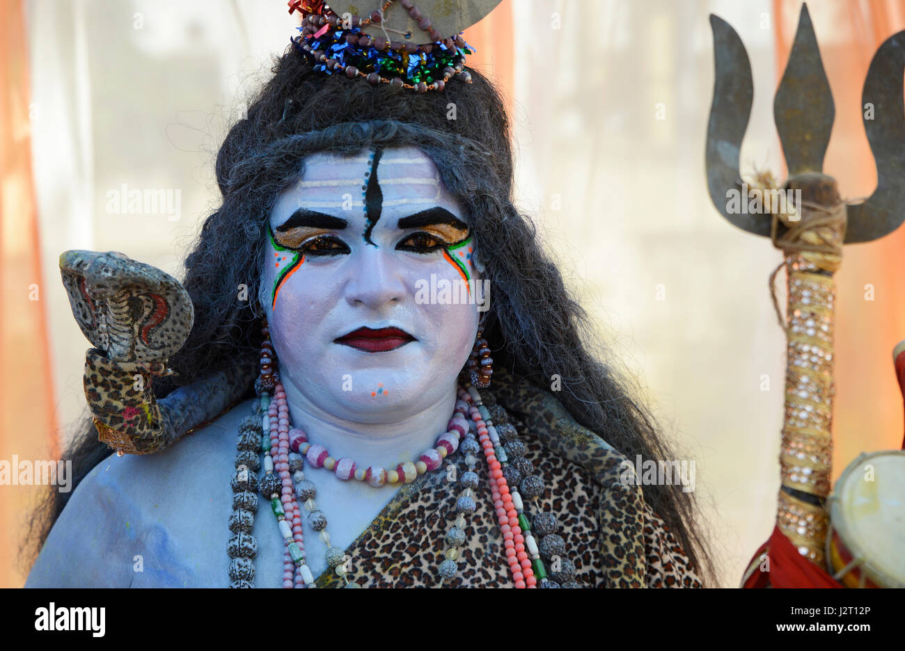 Indian man with lord shiva Costume  sc 1 st  Alamy & Indian man with lord shiva Costume Stock Photo: 139439966 - Alamy