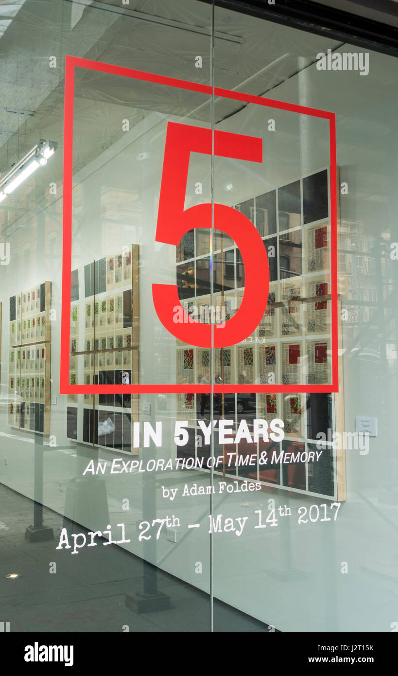 5 in 5 Years, an exploration of time & money by Adam Foldes, an art exhibit Stock Photo